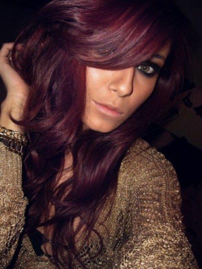 Acajou Couleur De Cheveux Rouge Cerise